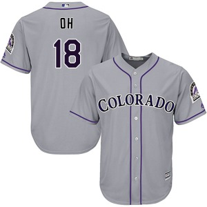 Youth Majestic Colorado Rockies Seung-hwan Oh Gray Cool Base Road Jersey - Authentic